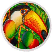 Paradise Toucan Round Beach Towel