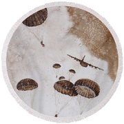 Paratroopers Round Beach Towel