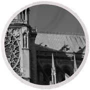 Paris Ornate Building Round Beach Towel