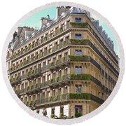 Paris Architecture Round Beach Towel