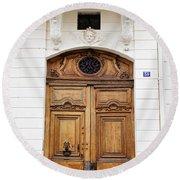Paris Door - No. 30 - Paris Photography Round Beach Towel