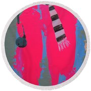 Paris Promenade Round Beach Towel