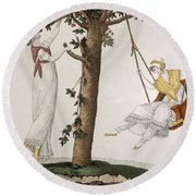 Parisian Ladies At Montmorency, Plate Round Beach Towel