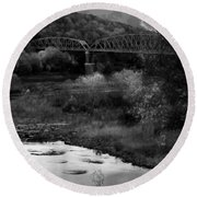 Parker Bridge Round Beach Towel