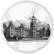 Parliament Building - Ottawa - 1878 Round Beach Towel