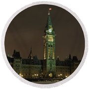 Parliament Hill Round Beach Towel