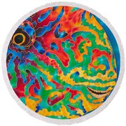 Parrotfish Round Beach Towel