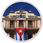 Partagas Cigar Factory Round Beach Towel