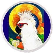 Party Parrot 1 Round Beach Towel