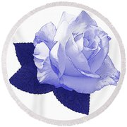 Round Beach Towel featuring the photograph Pascali Rose by Jane McIlroy