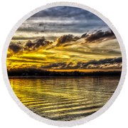 Passing Storm Two. Round Beach Towel