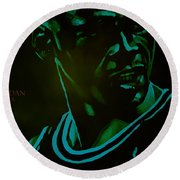 Round Beach Towel featuring the digital art Passion by Brian Reaves