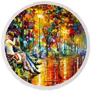 Passion Evening -  New Round Beach Towel