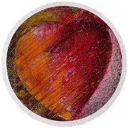 Passion Heart Round Beach Towel