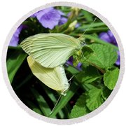 Passion Of The Butterflies Round Beach Towel