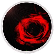 Passion. Red Rose Round Beach Towel
