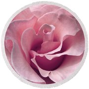 Passion Pink Rose Flower Round Beach Towel
