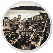 Passionate English Bay Mccclxxviii Round Beach Towel by Amyn Nasser