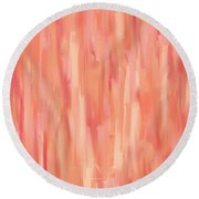 Passionate Peach Round Beach Towel by Lourry Legarde