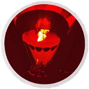 Passion's Flame Round Beach Towel