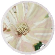 Pastel Daisy Photoart Round Beach Towel