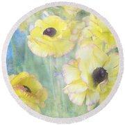 Pastel Perfection Round Beach Towel