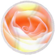 Pastel Rose Round Beach Towel