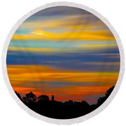 Round Beach Towel featuring the photograph Pastel Sunrise by Mark Blauhoefer