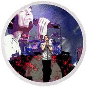 Pat Monahan Of Train Round Beach Towel