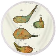 Patented Golf Club Heads 1926 Round Beach Towel