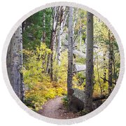 Path Of Peace Round Beach Towel by Margie Chapman