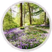 Path Of Serenity Round Beach Towel