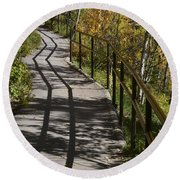 Path Shadow Round Beach Towel