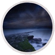 Path To Infinity Round Beach Towel