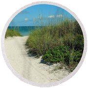 Path To Pass -a- Grille Round Beach Towel