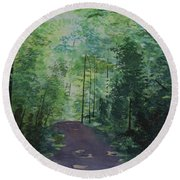 Path To The River Round Beach Towel by Martin Howard