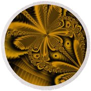 Round Beach Towel featuring the digital art Paths Of Possibility by Elizabeth McTaggart