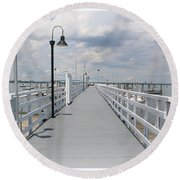 Pathway To The Clouds Round Beach Towel