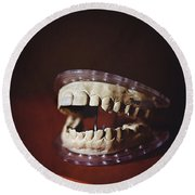Round Beach Towel featuring the photograph Patient 910 by Trish Mistric
