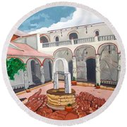 Patio Colonial Round Beach Towel