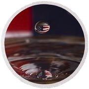 America Round Beach Towel by Anthony Sacco