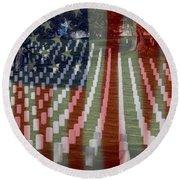 Patriotism Round Beach Towel by Patti Whitten