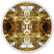 Patterns In Stone - 146b Round Beach Towel by Paul W Faust -  Impressions of Light