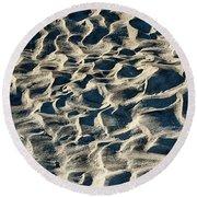 Patterns In Sand 1 Round Beach Towel