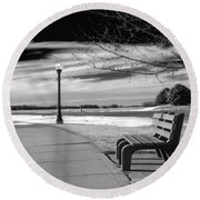Pause Round Beach Towel by Don Spenner