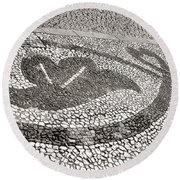 Pavement Detail Portugal Round Beach Towel by Menega Sabidussi