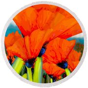 Pavot Round Beach Towel