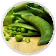 Pea Pods Round Beach Towel