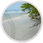 Peace And Quiet On Sanibel Island Round Beach Towel by Jennifer White