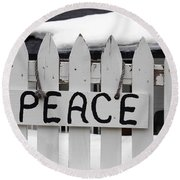 Round Beach Towel featuring the photograph Peace by Fiona Kennard